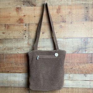 The Sak Tan Knit Shoulder Bag
